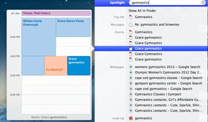 Mac 101 Use Spotlight to review Calendar events