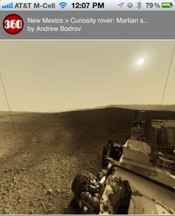 'Explore' Mars with your iPhone