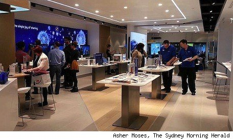 Samsung's new Sydney store closely resembles  an Apple Store