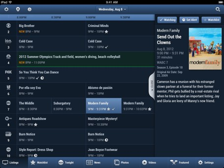 Updated TV Guide app includes celebrity watchlists and guestcurated channels