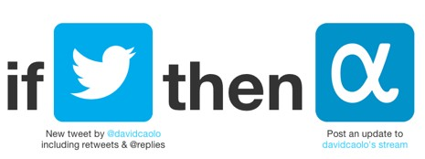 IFTTT recipe Post to Appnet