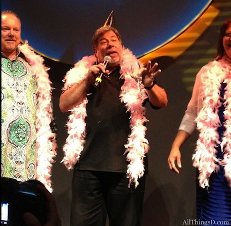 Pink feather boa time! Fusionio throws surprise birthday party for Woz