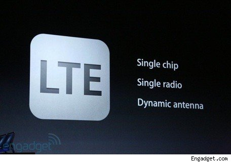 The new iPhone 5 supports LTE
