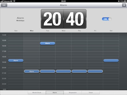 iOS 6 The iPad Clock app