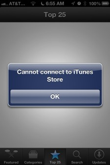 Fix iOS 6 App Store connectivity with Date and Time trick