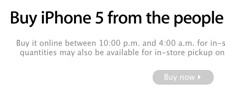 iPhone 5 online reservations now available