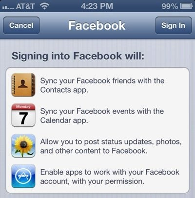 With iOS 6 Facebook wants to infect contact books with facebookcom email addresses across the globe
