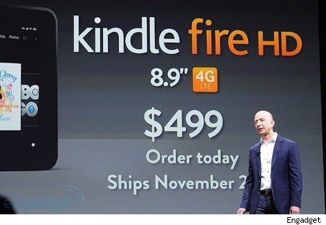 Amazon throws down the gauntlet to Apple with a 89inch Kindle Fire, $50 annual LTE data plan