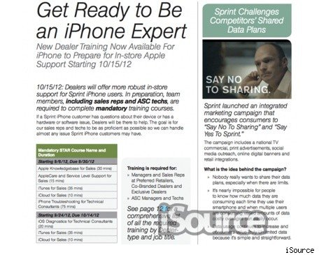 Sprint training documents suggest October iPhone arrival date