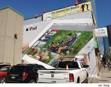 Does Toronto wall mural show a new iPad dashboard No, it's just iPhoto for iOS