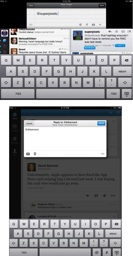 Twitter for iPad 50 adds new profiles, photo streams, more