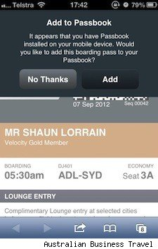 Airline support of iOS 6 Passbook reportedly ready for takeoff
