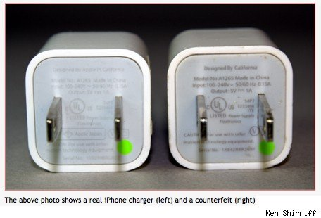 The danger of counterfeit iPhoneiPad USB adapters