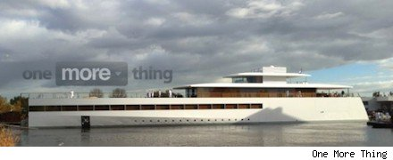Steve Jobs's yacht launches