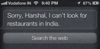 Talking to Siri India local search hacks
