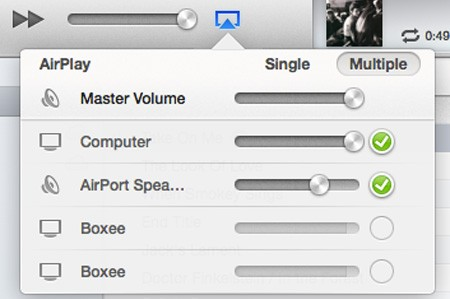 iTunes 11 provides easy control over multiple AirPlay devices