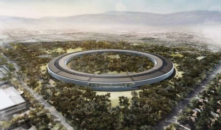 Apple spaceship campus delayed until 2016