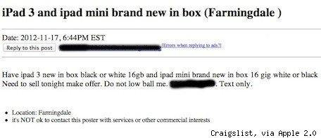 craigslist ad 23 tuaw JFK worker who helped steal 3600 iPad minis nabbed by FBI
