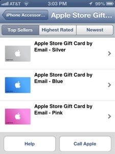 Passbookenabled gift cards now available from Apple Store app