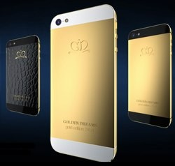 Golden Dreams smothers the iPhone 5 in gold and alligator leather