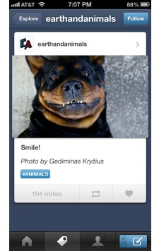 Tumblr updated for iOS
