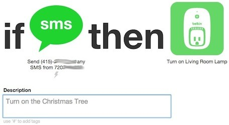 IFTTT Recipes Using Siri to turn on the Christmas lights