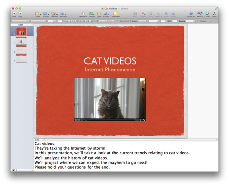 Send Keynote Presenter Notes to Evernote with AppleScript
