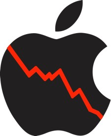 Apple's profit margin down, shares take a hit
