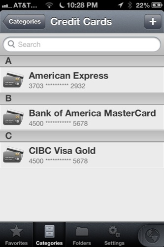 In the credit card category