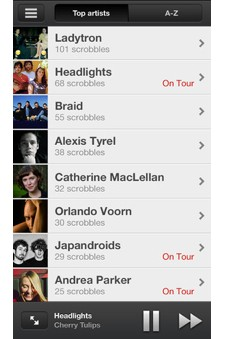 Lastfm releases Scrobbler for iOS