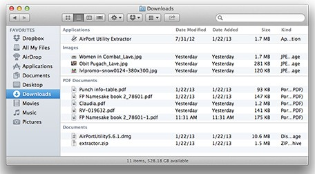 Mac 101 Use Finder's item arrangement to sort your files