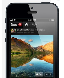 500px returns to the App Store