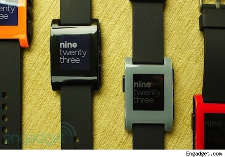 Pebble smart watch to ship January 23rd Engadget goes handson