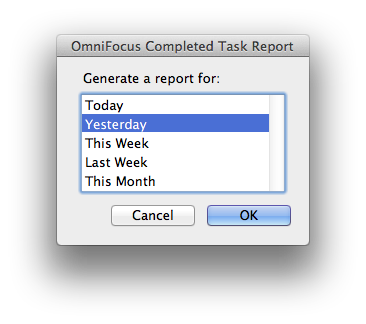 AppleScripting OmniFocus  Send Completed Task Report to Evernote