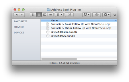 AppleScript Productivity  Create OmniFocus Followups from Contacts
