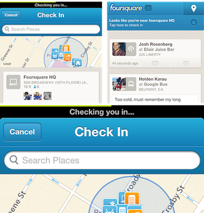 Foursquare adds 'quick glide' feature to iOS