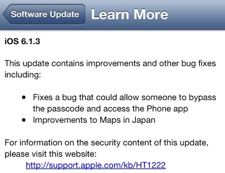 iOS 613 available fixes lock screen bug