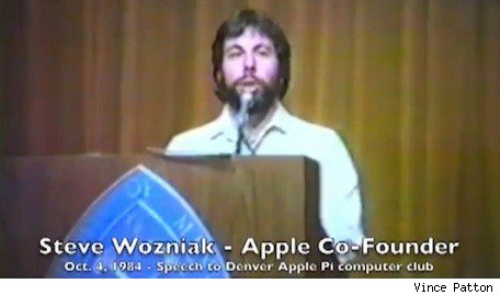 1984 Woz talk to Denver Apple Pi computer club featured in found videos