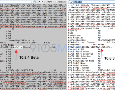 OS X 1084 beta suggests Gigabit 80211ac WiFi is coming soon