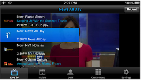 Time Warner Cable bringing live TV and ondemand video to iOS devices