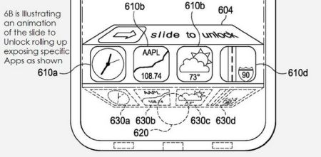 Apple files patents for app access on lockscreen