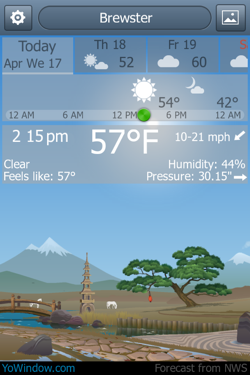 YoWindow for iPhone is a cute, useful weather app