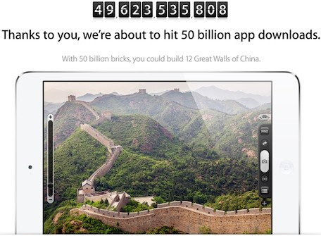 Apple ups the promotion for its 50 billion app download contest
