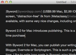 Byword 20 for Mac