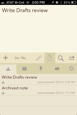 Drafts 30 adds archiving, improves organization, more