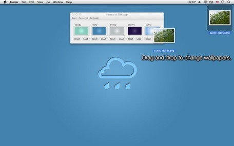 Farensius adds weather to your menu bar