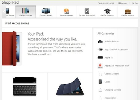 Apple applies design changes to online store