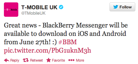 BBM for iOS slated to arrive on June 27