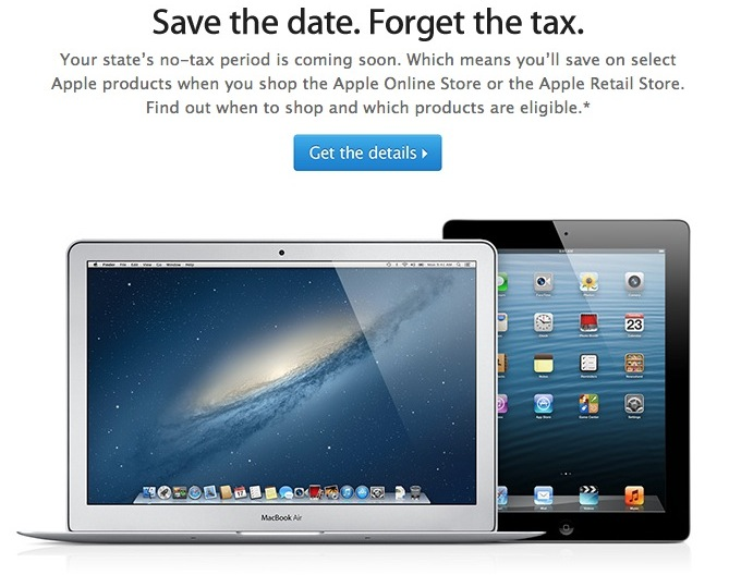 Apple promotes taxfree shopping days