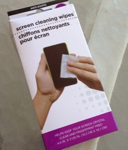 Dollar Store Accessories Screen cleaning wipes